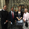 Norwich Cathedral Canon Peter Doll. BECCG-Andrew Brown. HE Ambassador Alison Rose. BECCG-Debora Delheusy - © photo Vincent Vandendriessche