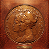 Marie Depage - Edith Cavell medallion on loan from the Erasmus Hospital